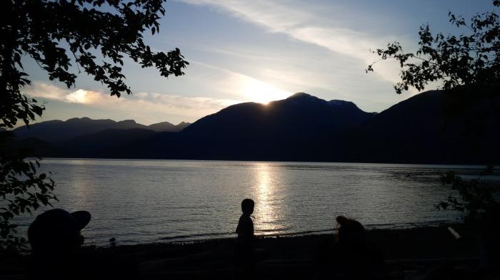 Sun setting on the last night