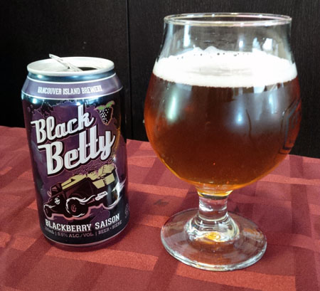 Vancouver Island Black Betty Blackberry Saison Can