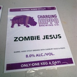 Charging Hippo Zombie Jesus Imperial Porter