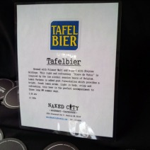 Naked City Tafelbier, best session beer I had to date