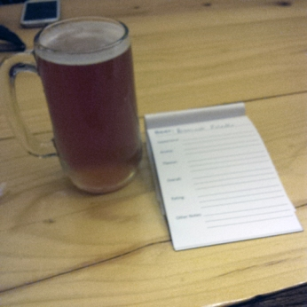 Brassneck Ale - last beer of the night, hence blurry pic