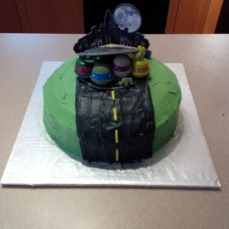My son is a huge TMNT fan, we made this for him