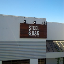 Steel & Oak Sign