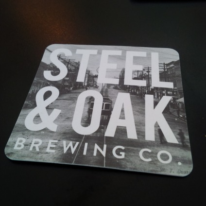 Steel & Oak coaster