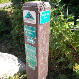 Greenway Path sign in Fairhaven