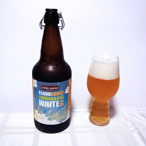 Howe Sound Cloud Burst Lemongrass White IPA