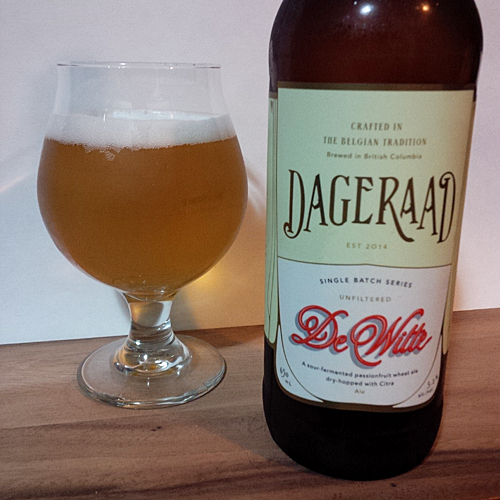 Dageraad De Witte Sour Fermented Belgian Wheat Ale with Passionfruit 2015