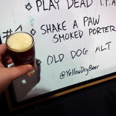 Yellow Dog Alt, nice to see this style of beer here.