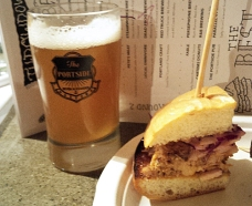 Local Omnivor - Ribwich paired with Dead Frog Weaping Reaper Blood Orange Bock infused with figs.