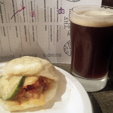 Fable spicy Pork Belly in a steam bun paired with Persephone's Red Rum Runner ale - this was also a great pairing