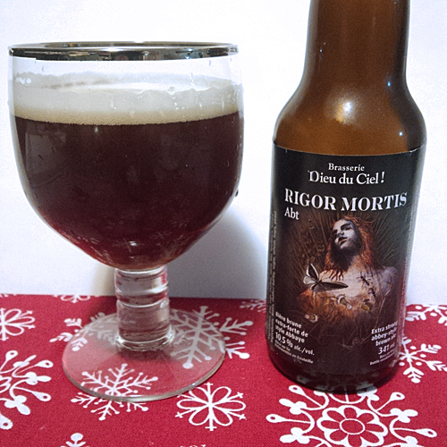 dieu du ciel Rigor Mortis aged one year