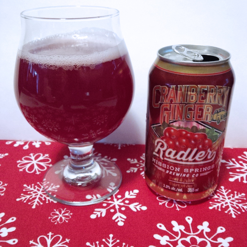 Mission Springs Cranberry Ginger Radler