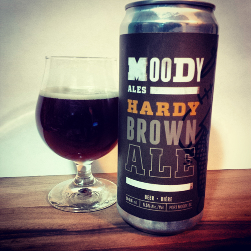 Moody Ales Hardy Brown Ale Crowler