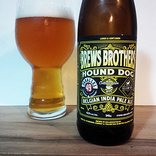 Parallel 49 Brews Brothers - Yellow Dog Belgian IPA