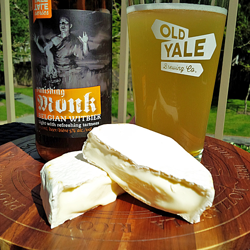 The Farmhouse Brie and Old Yale Brewing Vanishing Monk Witbier