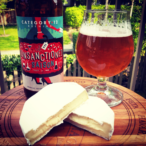 Natural Pasture Cheese Company Comox Brie & Category 12 Unsanctioned Saison