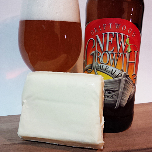 Village Amber Ale Cheese with Driftwood New Growth Pale Ale