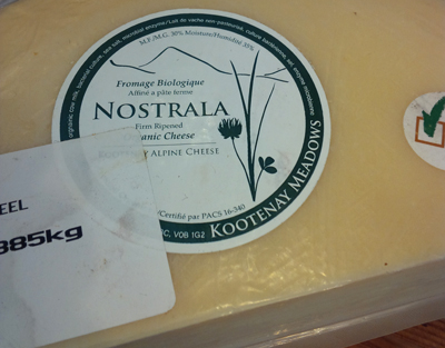 Kootenay Meadows Nostrala Cheese