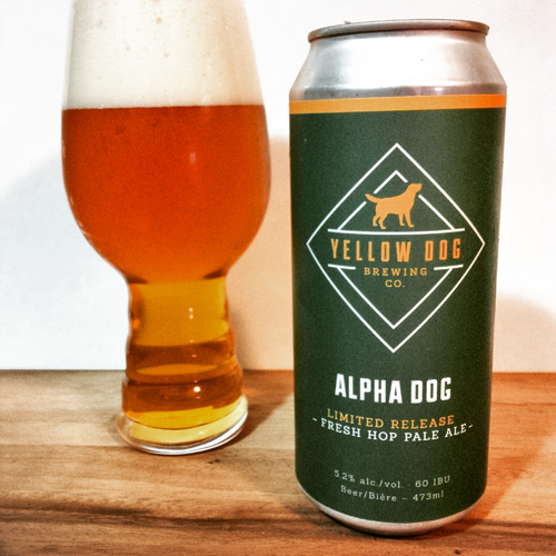 Yellow Dog Brewing Alpha Dog Fresh Hop Pale Ale