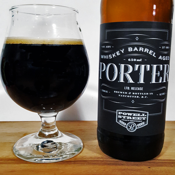 Powell Street Whiskey Barrel Aged Porter